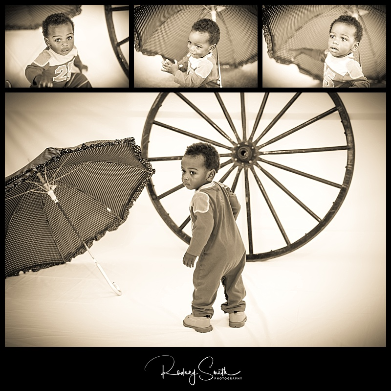 Michael, umbrella, wagon wheel, fall fling, Crossnore Elementary School, Rodney Smith Photography, sepia, cute