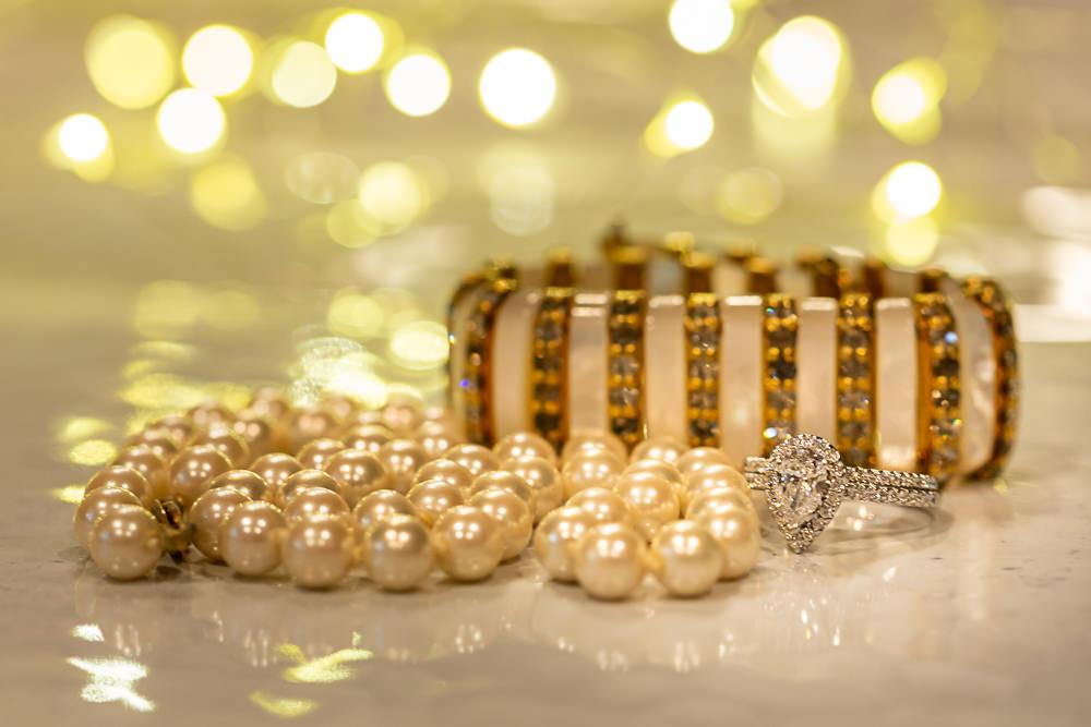 wedding details, bracelet, engagement ring