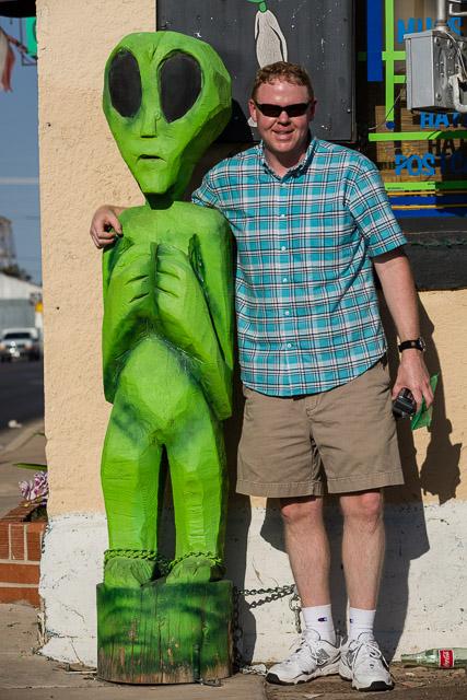 Rodney with alien