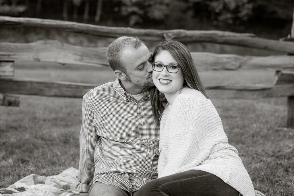 engaged couple, Blue Ridge Parkway