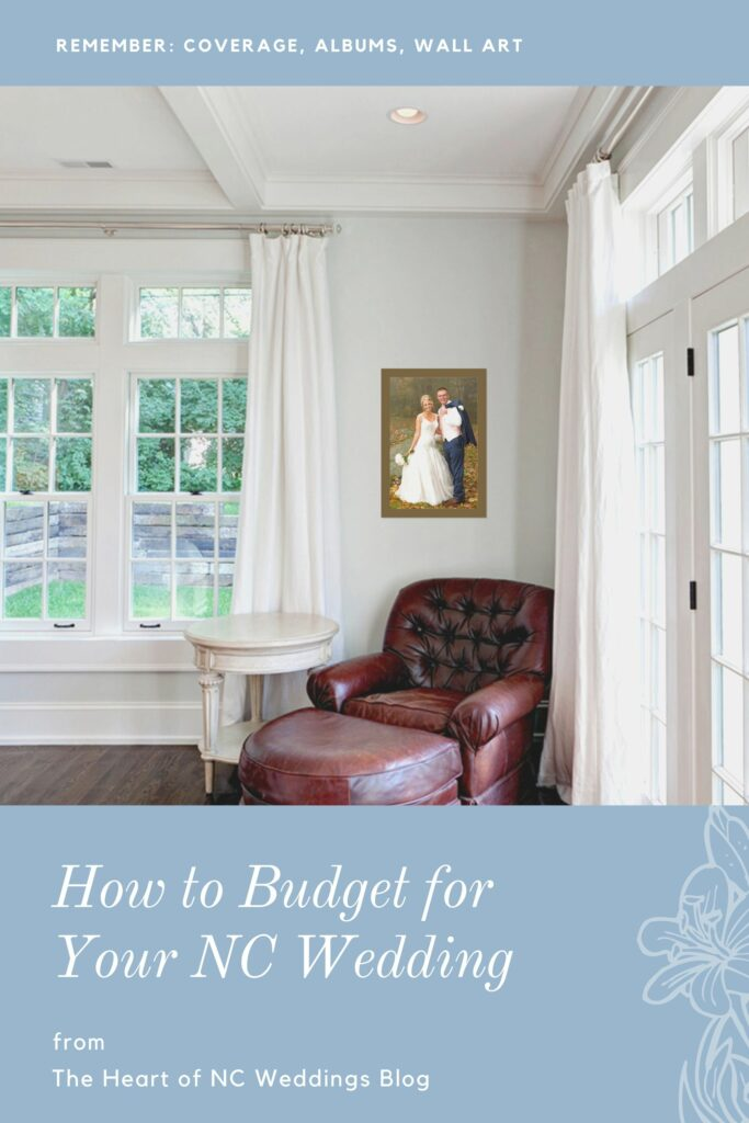 budget your nc wedding graphic