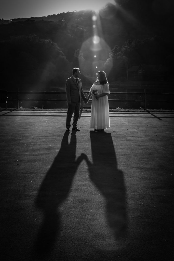 wedding, b&w, shadows